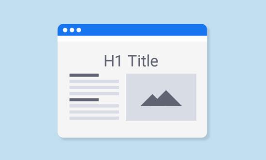 网页中H1标签几个比较好